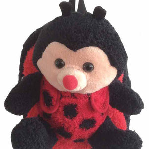 Popatu Kid's Backpack with Ladybug Plush          THIS IS NOT A ROLLING BACKPACK