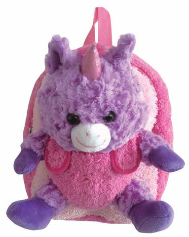 Pink Backpack with Purple Unicorn Plush - Popatu pageant and easter petti dress