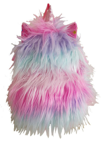 Multi-color Furry Backpack with Unicorn Horn and Ears - Popatu pageant and easter petti dress
