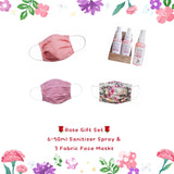 Rose Set-total 9 pcs (Sanitizer + Face Mask) - Popatu pageant and easter petti dress