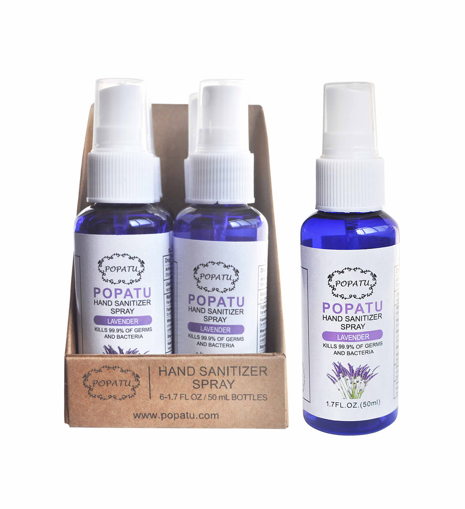 6pc Hand Sanitizer Spray-Lavender-50ml w/displaybox - Popatu pageant and easter petti dress