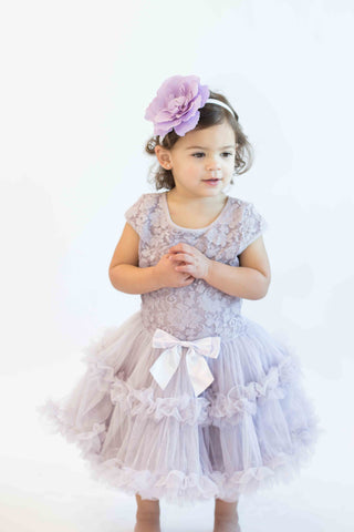 Popatu Girls Vintage Lilac Lace Petti Dress