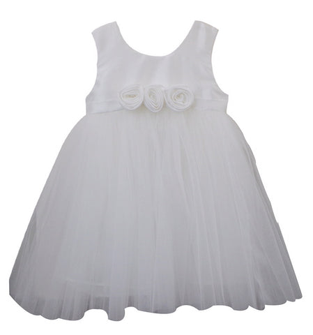 Popatu Three Rose Flower Girl Dress - Popatu pageant and easter petti dress