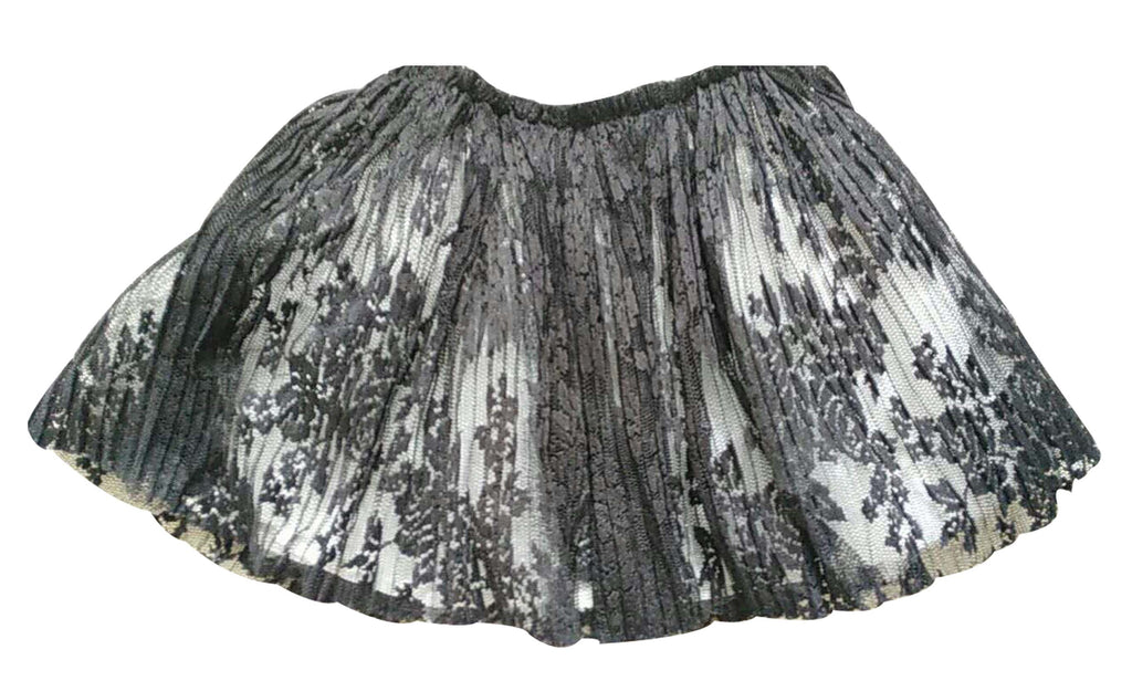 Little Girls Black Lace Skirt
