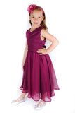 Popatu Grape Chiffon Long Dress - Popatu pageant and easter petti dress