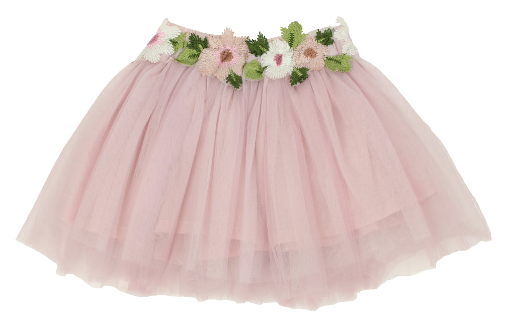 Little Girls Flower Waistband Skirt