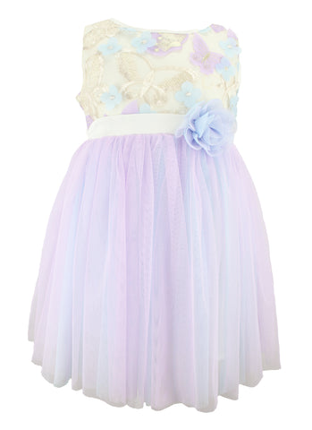 Popatu Butterfly Tulle Dress - Popatu pageant and easter petti dress