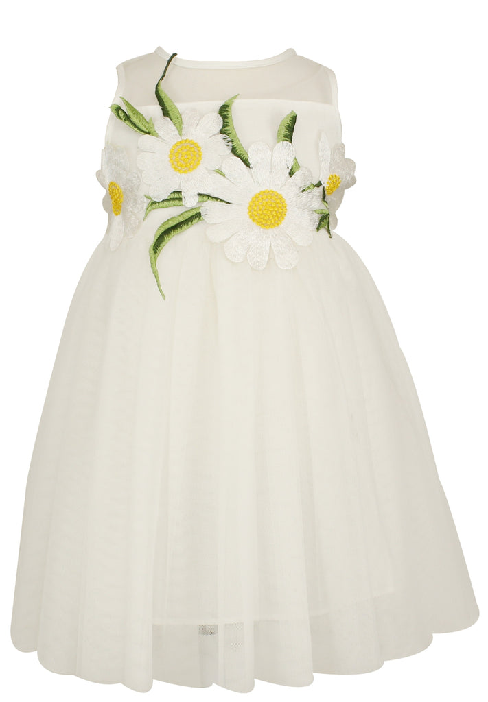 Popatu Little Girls Sunflower Dress - Popatu pageant and easter petti dress