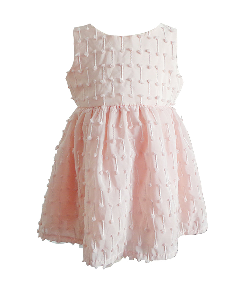 Popatu Little Girls Light Peach Plumeti Dress - Popatu pageant and easter petti dress