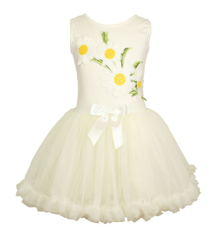 Popatu Little Girls Daisy Petti Dress - Popatu pageant and easter petti dress