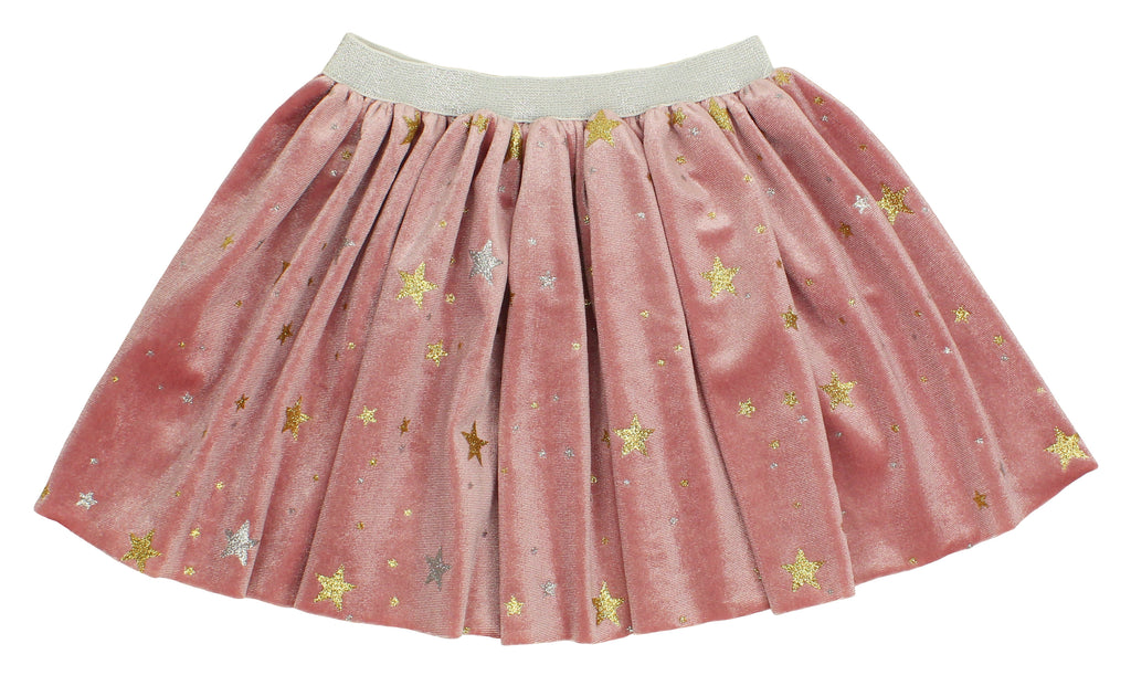 Popatu Baby Dusty Rose Skirt with Stars - Popatu pageant and easter petti dress