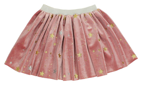 Popatu Baby Dusty Rose Skirt with Stars