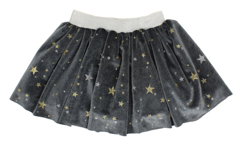 Popatu Baby Grey Skirt with Stars - Popatu pageant and easter petti dress