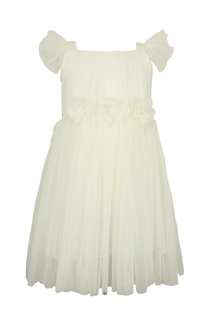Popatu White Tulle Dress - Popatu pageant and easter petti dress