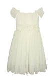 Popatu Little Girls Cream Tulle Dress - Popatu pageant and easter petti dress