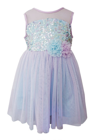 Popatu Little Girl's Multi Colors Tulle Dress - Popatu pageant and easter petti dress