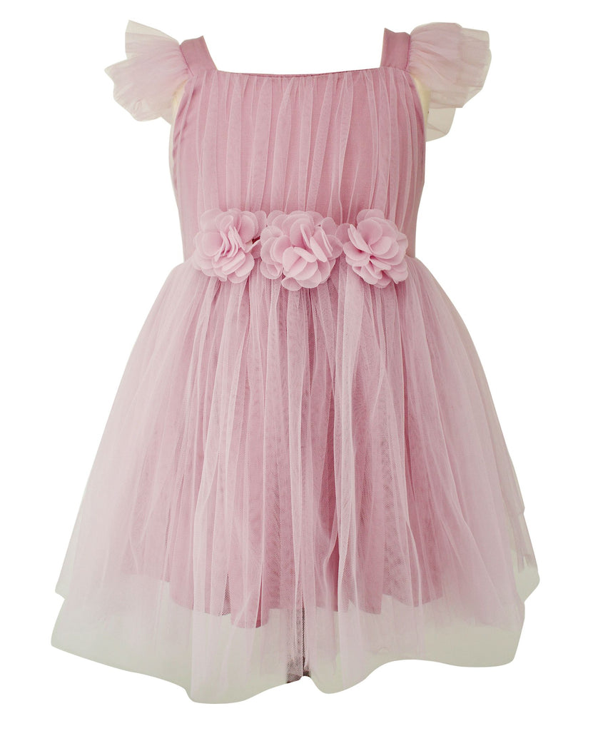 Popatu Mauve Tulle Dress - Popatu pageant and easter petti dress
