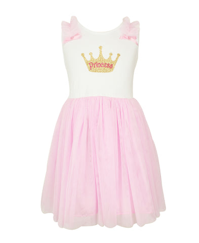 Popatu Personalized Princess Crown Tank Tulle Dress (Toddler & Little Girls)