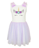 Popatu Personalized Unicorn Tank Tulle Dress (Toddler & Little Girls) - Popatu pageant and easter petti dress