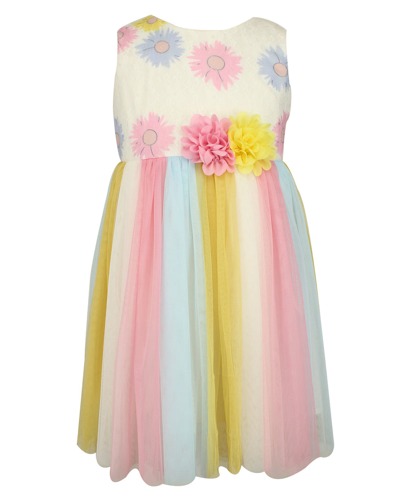 Rainbow Tulle Dress - Popatu pageant and easter petti dress