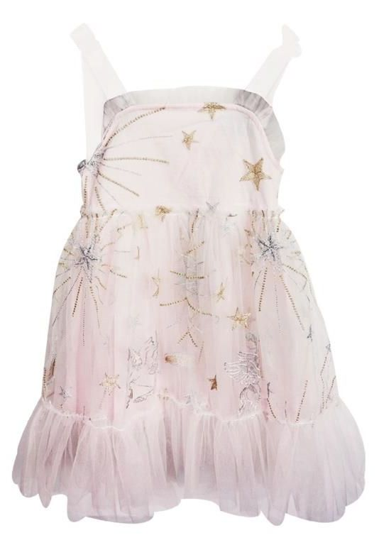 Star Embroidered Summer Dress - Popatu pageant and easter petti dress