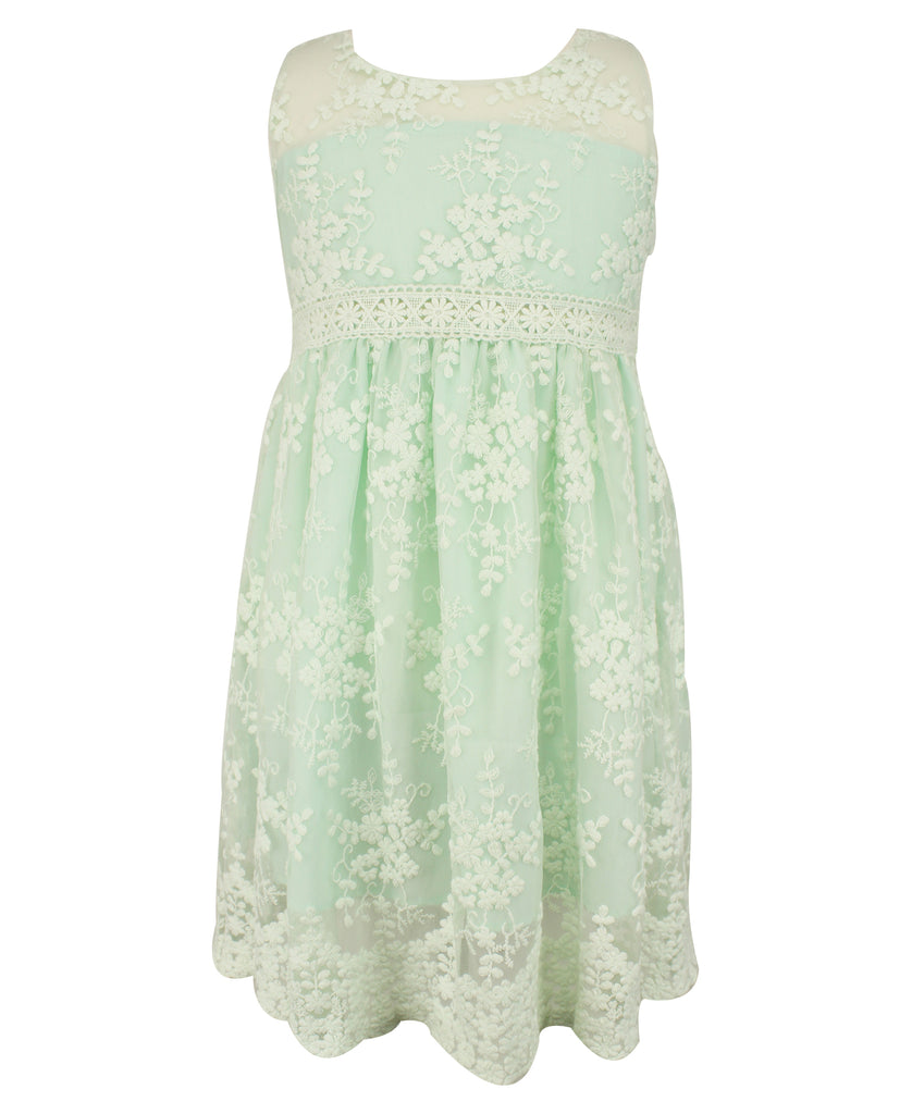 Popatu Mint Lace Dress - Popatu pageant and easter petti dress