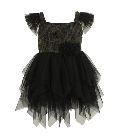 Little Girl's Elegant Handkerchief Party Dress
