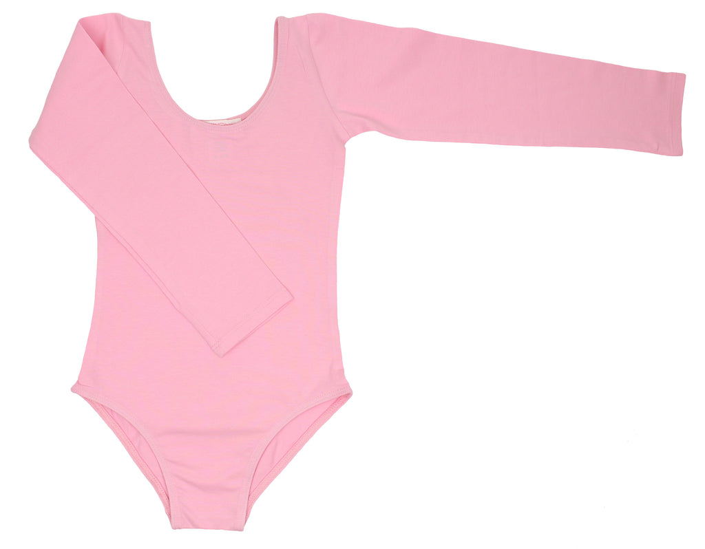Popatu Little Girl Dance Leotard Long Sleeved - Popatu