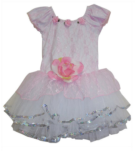 Popatu Rose Lace Ballet Dance Dress - Popatu pageant and easter petti dress