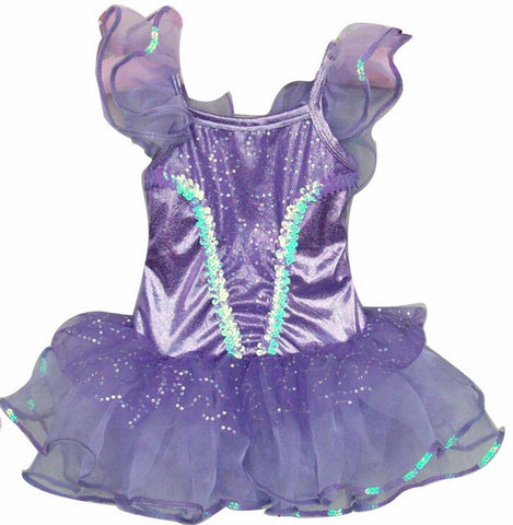 Popatu Purple Sequin Ballet Dance Dress - Popatu pageant and easter petti dress