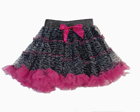 Popatu Zebra Print Girl's Skirt - Popatu pageant and easter petti dress