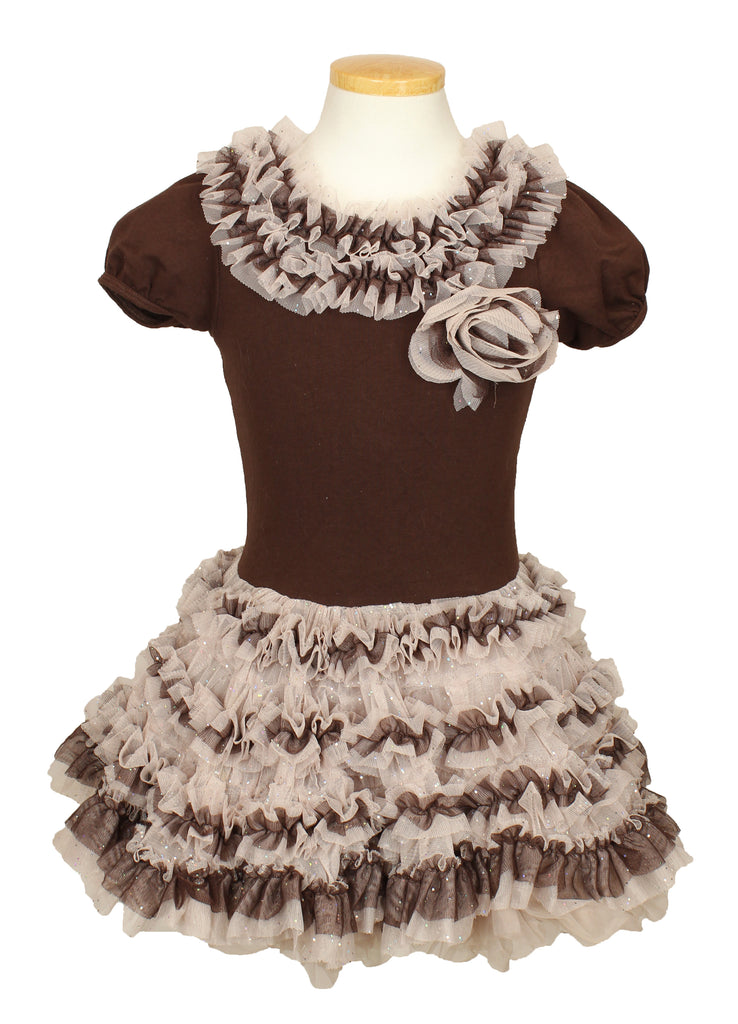 Popatu Little Girls Petti Dress - Popatu pageant and easter petti dress