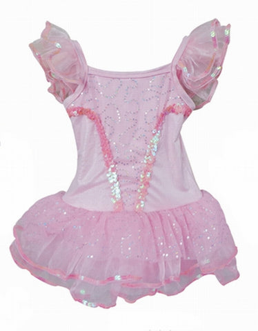 Popatu Pink Sequin Dance Dress - Popatu pageant and easter petti dress