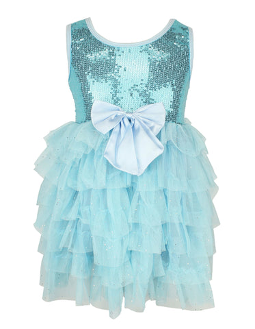 Popatu Blue Sequin Dress - Popatu pageant and easter petti dress