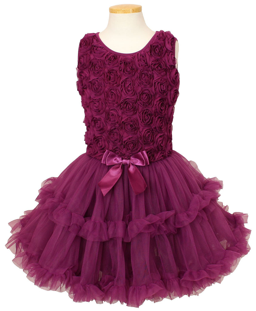 Dark purple flower soutache ruffle dress for girls popatu dark purple flower soutache ruffle dress for girls mightylinksfo