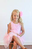 Popatu Little Girls Rose Princess Flying Tulle Dress - Popatu pageant and easter petti dress