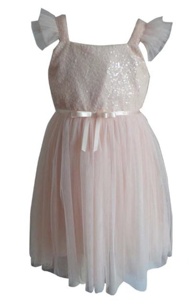Popatu Baby Girls Rose Sequin Tulle Dress - Popatu pageant and easter petti dress