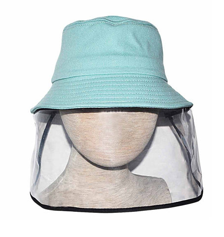 Child Mint Hat with Protective Face Shield - Popatu pageant and easter petti dress