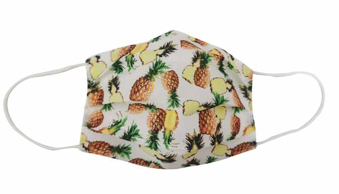 Adult-Pineapple Fabric Face mask - Popatu pageant and easter petti dress