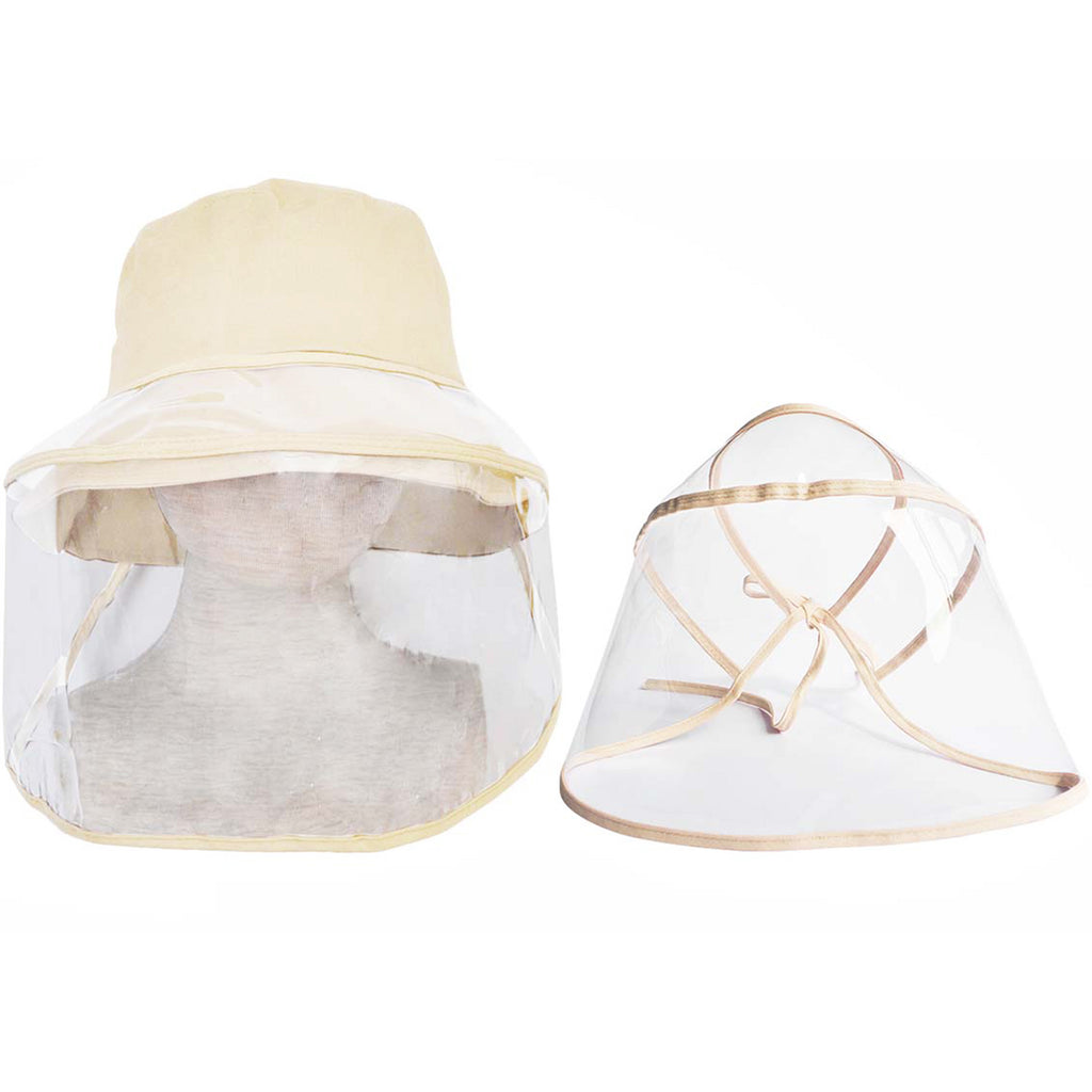 Adult Ivory Hat with Protective Face Shield - Popatu pageant and easter petti dress