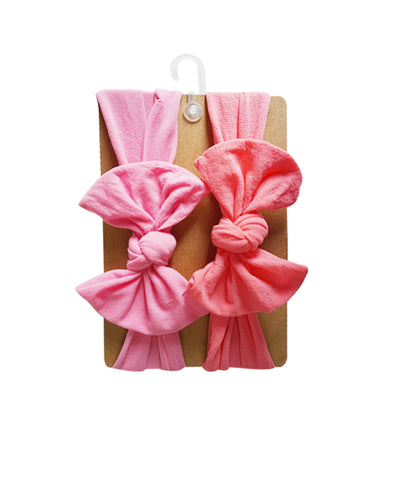 Baby Girl's Big Bow Headband (Set of 2pcs)