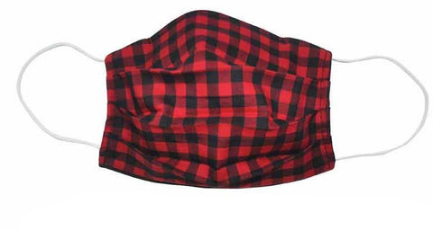 Fabric Face Mask Checkered Red/Black - Popatu pageant and easter petti dress