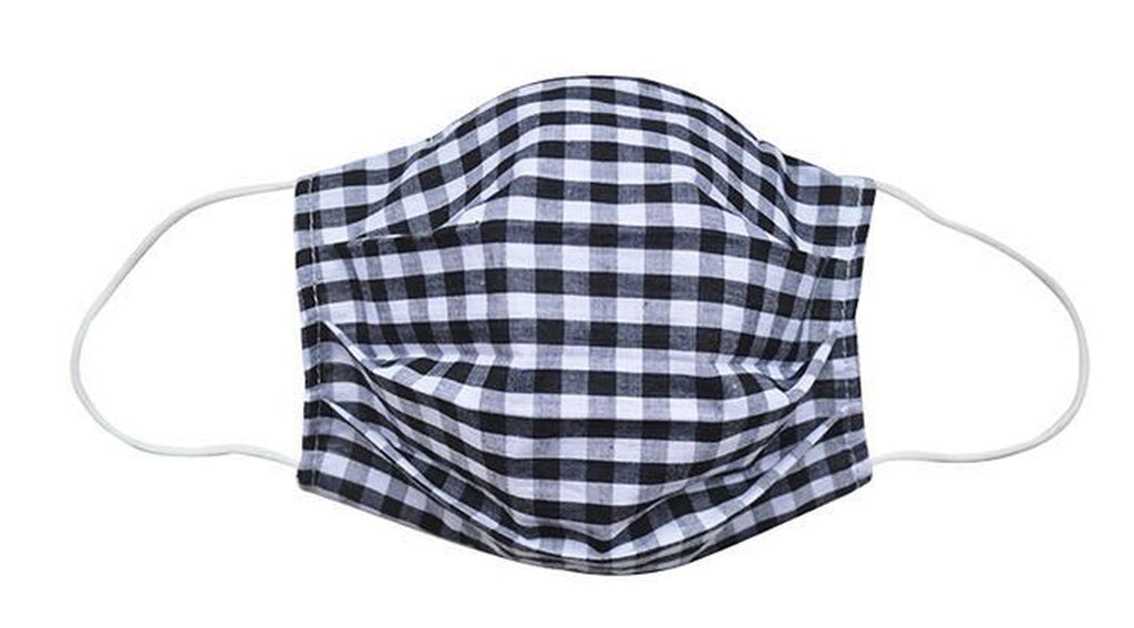 Adult- Black Checkered Fabric Face Mask - Popatu pageant and easter petti dress