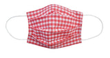 Red Checkered Fabric Face Mask (Adult/Child Sizes) - Popatu pageant and easter petti dress