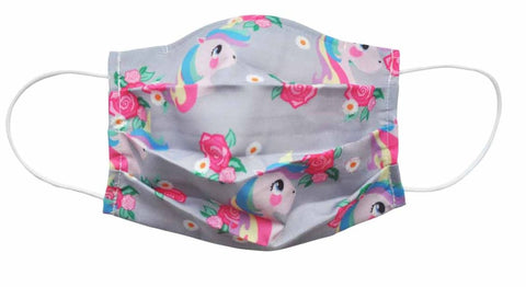 Unicorn  Fabric Face Mask (Adult/Child Sizes) - Popatu pageant and easter petti dress