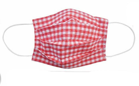Child- Red Checkered Fabric Face Mask - Popatu pageant and easter petti dress