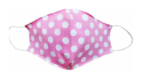 Adult- Polka dot Pink Fabric Face mask - Popatu pageant and easter petti dress