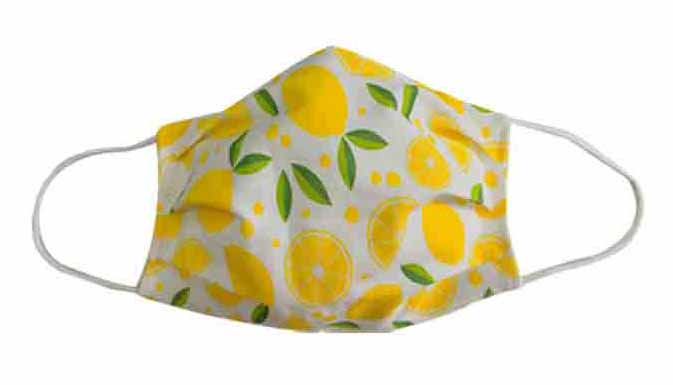 Lemon Fabric Face Mask (Adult/Child) - Popatu pageant and easter petti dress