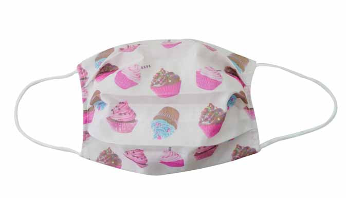 Cupcake Fabric Face Mask (Adult & Child) - Popatu pageant and easter petti dress