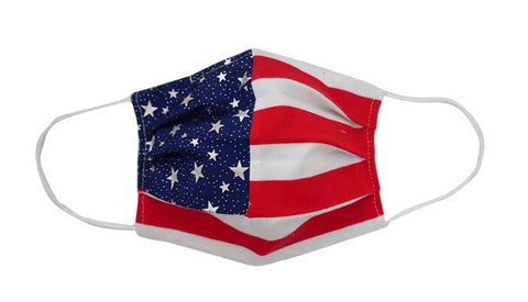 USA Flag Fabric Face Mask-(Adult/Child) - Popatu pageant and easter petti dress